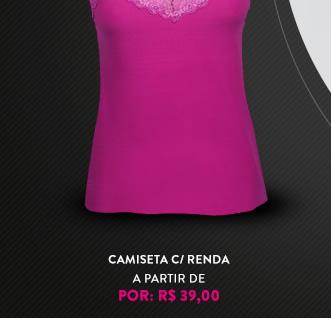 CAMISETA C/ RENDA
