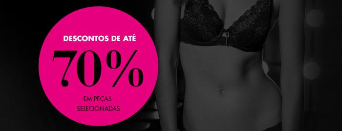 DESCONTOS DE ATÉ 70%