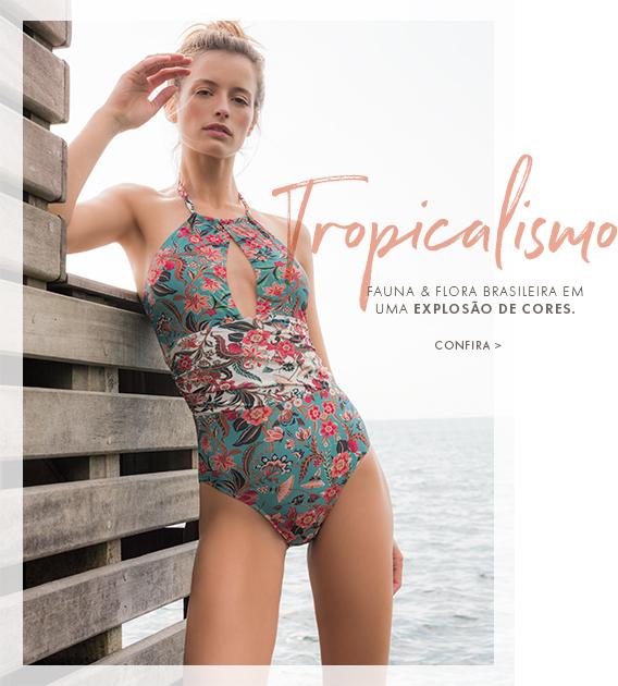 Tropicalismo - A fauna e flora brasileiras numa explosão de cores.